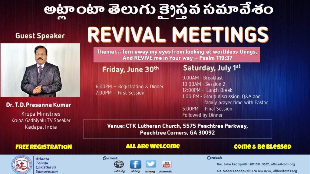 ATCS Revival Meetings 2017