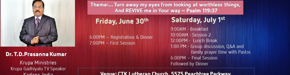 ATCS Revival Meetings 2017