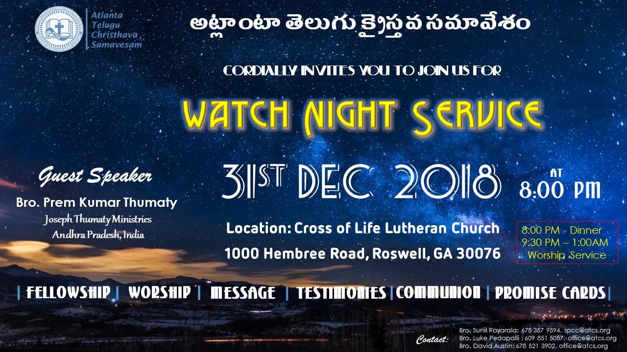 Watch Night Service